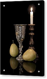 Still Life With Pears Acrylic Print by Tom Mc Nemar