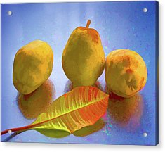 Acrylic Print featuring the photograph Still Life With Pears by Vladimir Kholostykh