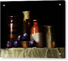 Still Life With Plums Acrylic Print