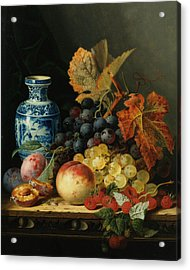 Still Life With Rasberries Acrylic Print by Edward Ladell