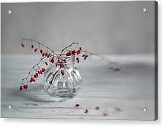 Still Life With Red Berries Acrylic Print