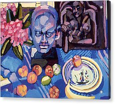 Still Life With Sculpture Acrylic Print