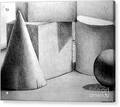 Still Life With Shapes Acrylic Print by Nancy Mueller