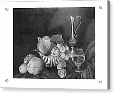 Still Life With Silver Pitcher Acrylic Print