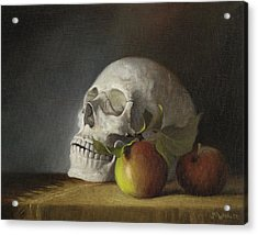 Still Life With Skull Acrylic Print
