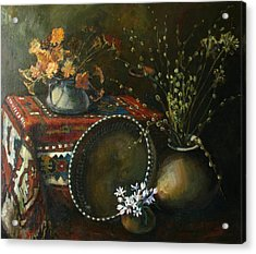 Still-life With Snowdrops Acrylic Print