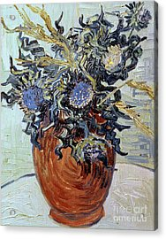 Still Life With Thistles Acrylic Print by Vincent van Gogh