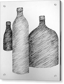 Still Life With Three Bottles Acrylic Print