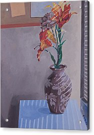Still Life With Tiger Lilies Acrylic Print