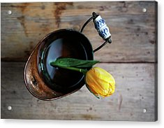 Still Life With Tulip Acrylic Print by Nailia Schwarz