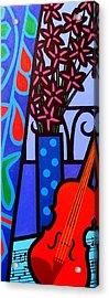 Still Life With Violin Acrylic Print by John  Nolan