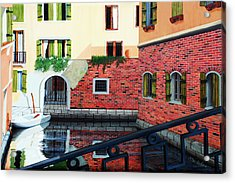 Still, On The Venice Canal, Prints From The Original Oil Painting Acrylic Print