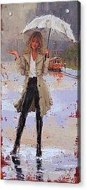 Still Raining Acrylic Print by Laura Lee Zanghetti