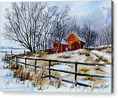 Still Some Snow Acrylic Print by Art Scholz