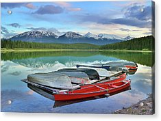 Acrylic Print featuring the photograph Still Waters At Lake Patricia by Tara Turner