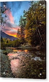 Stillaguamish Sunset Acrylic Print