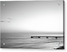 Acrylic Print featuring the photograph Stillness In Black And White by Ivy Ho