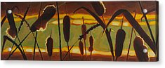 Acrylic Print featuring the painting Stillness Of Light by Janet McDonald