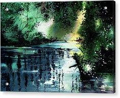 Stillness Speaks 2 Acrylic Print by Anil Nene