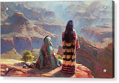 Acrylic Print featuring the painting Stillness by Steve Henderson