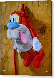 Acrylic Print featuring the painting Stimpy by Donelli  DiMaria