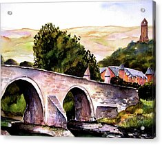 Acrylic Print featuring the painting Stirling Bridge by Marti Green