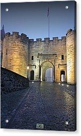 Stirling Castle Scotland In A Misty Night Acrylic Print by Christine Till