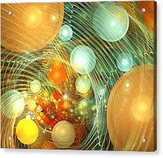 Stirred Up Universe Acrylic Print by Anastasiya Malakhova