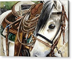 Stirrup Up Acrylic Print by Nadi Spencer