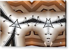 Stitched 1 Acrylic Print by Ron Bissett