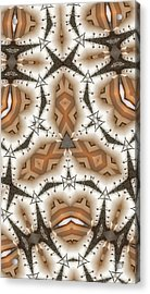 Stitched 2 Acrylic Print by Ron Bissett