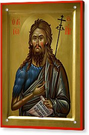 St.john The Baptist Acrylic Print by Daniel Neculae