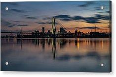 Stl Cityscape Acrylic Print by Jae Mishra