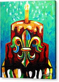 Stl250 Cakeway To The West Payne Gentry House Fleur De Lis Cake Acrylic Print
