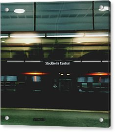 Stockholm Central- Photograph By Linda Woods Acrylic Print