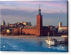 Stockholm City Hall Acrylic Print by Inge Johnsson