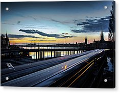 Stockholm Night - Slussen Acrylic Print