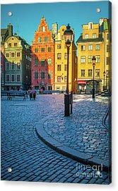 Stockholm Stortorget Square Acrylic Print by Inge Johnsson