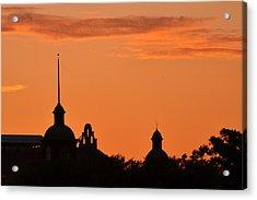 Acrylic Print featuring the photograph Stockyard Sunset by Ricardo J Ruiz de Porras
