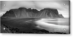Stokksnes Iceland Bandw Acrylic Print