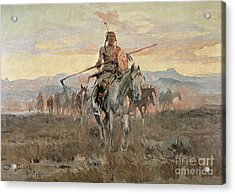 Stolen Horses Acrylic Print by Charles Marion Russell