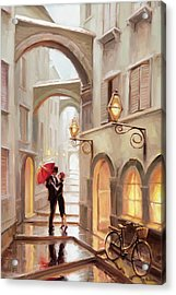 Acrylic Print featuring the painting Stolen Kiss by Steve Henderson