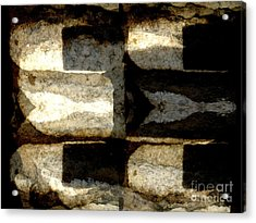 Stone Abstract Acrylic Print