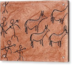 Stone Age Hunt Acrylic Print