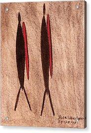 Stone Age Men Acrylic Print