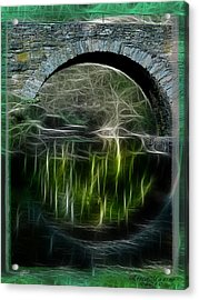 Acrylic Print featuring the photograph Stone Arch Bridge - Ny by EricaMaxine  Price