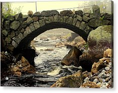 Stone Arch Up Close Acrylic Print by Lois Lepisto