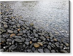 Acrylic Print featuring the photograph Menorca Pebble Beach  by Pedro Cardona