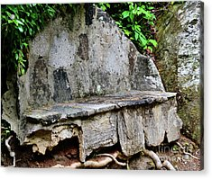 Stone Bench Two Acrylic Print