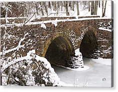 Stone Bridge At Bullrun Virginia Acrylic Print